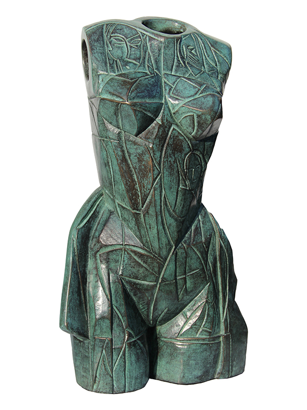 Bronze with verdigris patina