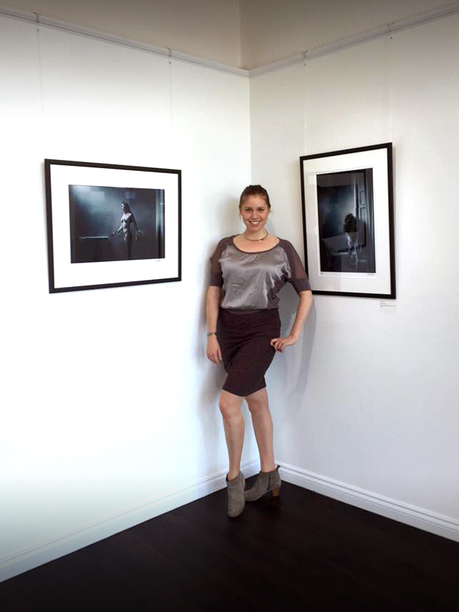 Dornbrook is the model featured on the 'Nude Study 21A' and 'Nude Study 21B' photographs by Chris Close currently being exhibited at the gallery as part of the Retina: Scottish International Photography Festival.