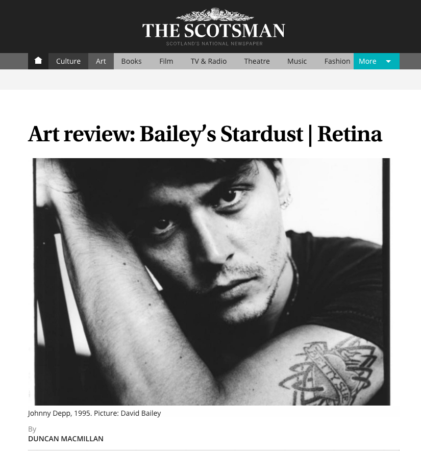 Retina Photography Exhibition Reviewed At The Scotsman