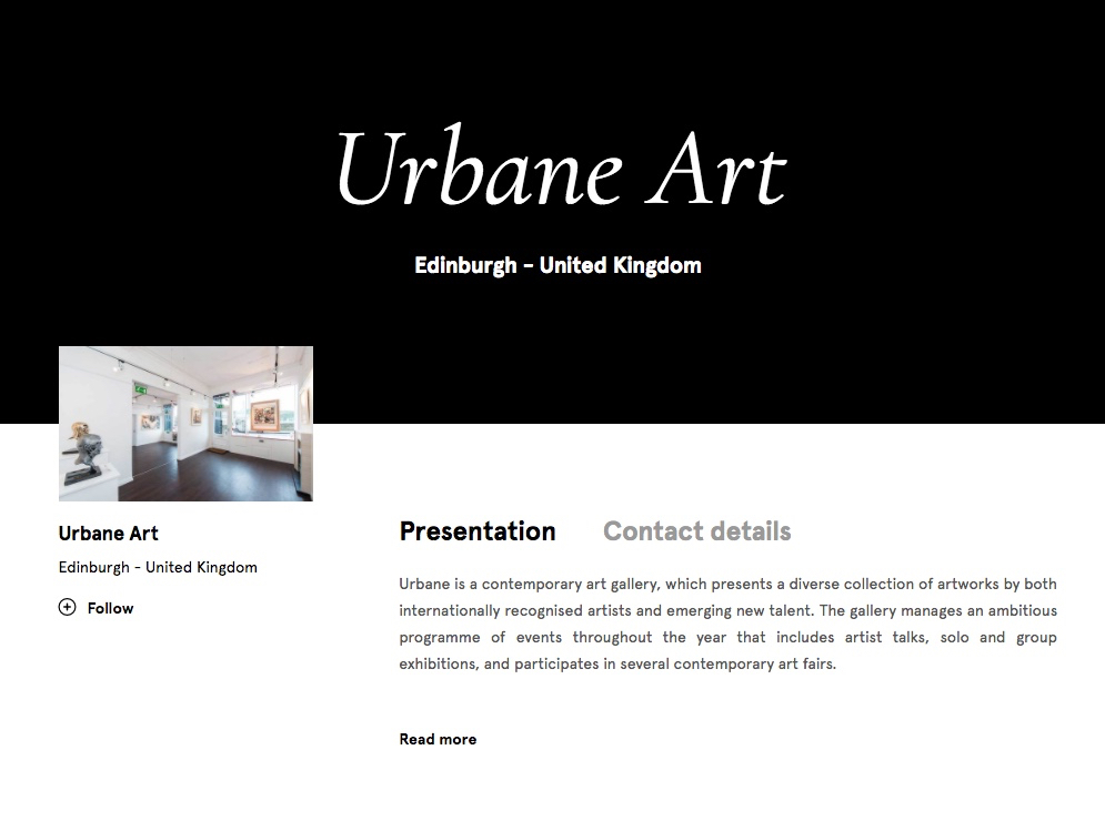 Urbane Art is delighted to be part of one of the fastest growing platforms for Art Collectors online.