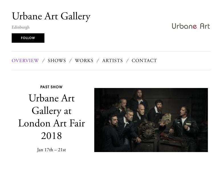 Urbane Art is delighted to have been invited to take part in one of the largest and more reputable platforms for art in the world.