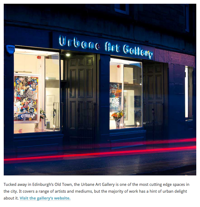 "Urbane Art Gallery was described as ""one of the most cutting edge spaces in the city"" in a review by Lizzie Davey."