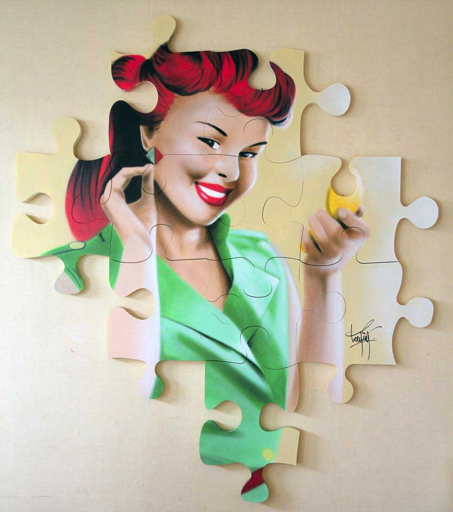 Fresh into the gallery this week we have two new puzzle pieces by French graffiti artist Keymi.